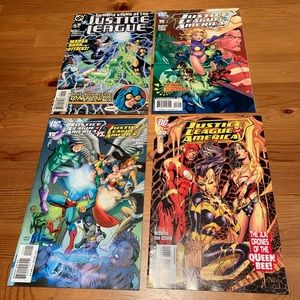 Justice League of America, #5, #16, #15 & #20.